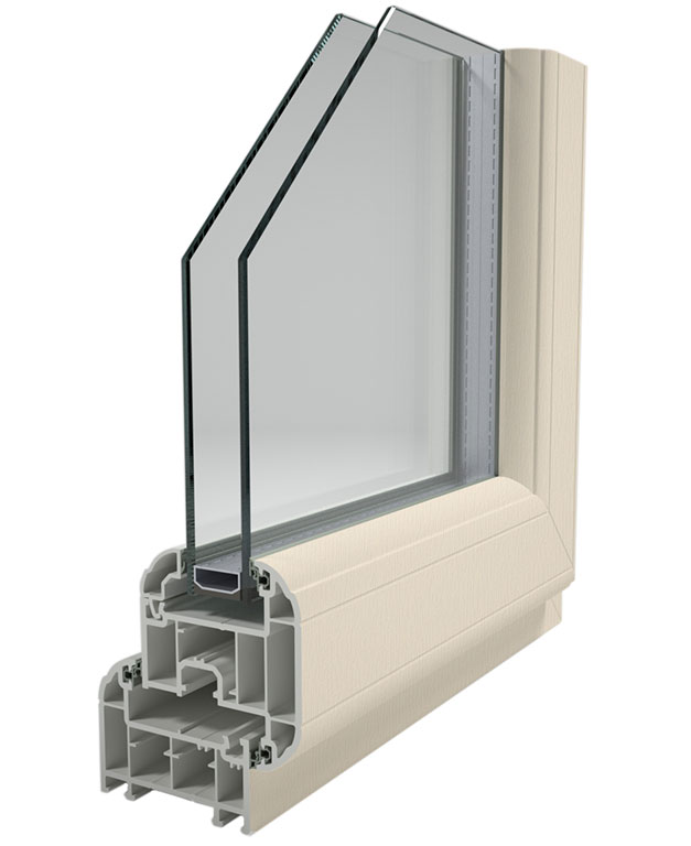 Energy efficient a rated double or triple glazed windows for Upvc window profiles