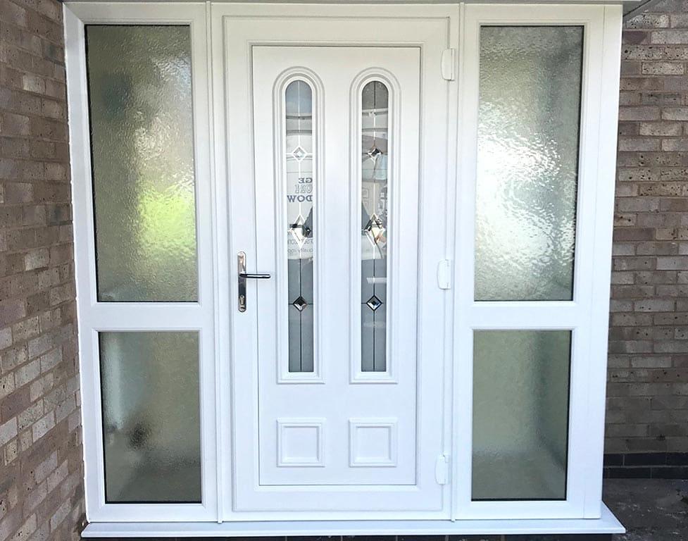 UPVC Front Back Secure Glazed Doors